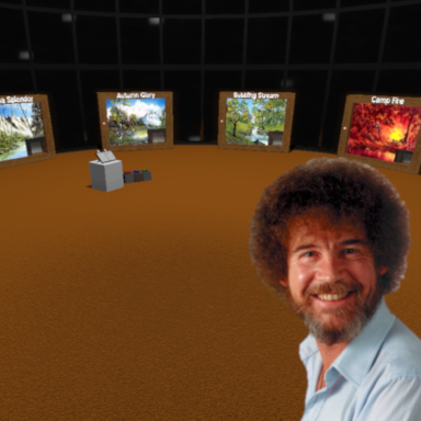 Bob Ross - Sliding Paintings Museum